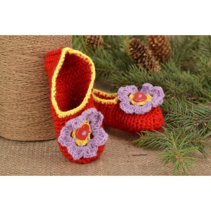 tricotés pour 32307583 Pantoufles bébé fée Chaussons de qExwPHznU