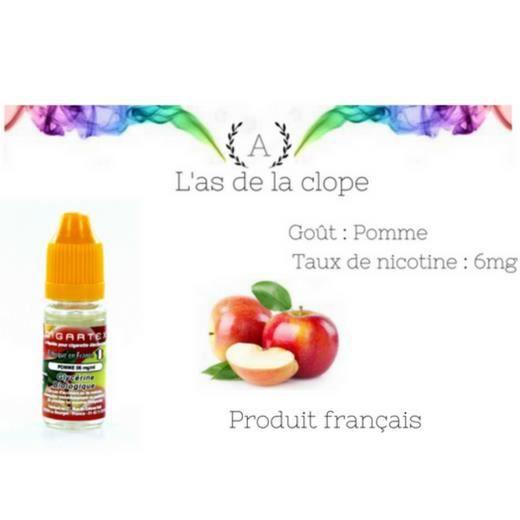 2b8aba54a93 E-liquide 10ml Pomme Bio 100% Français 6mg - Achat   Vente liquide e ...