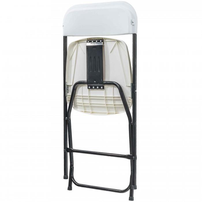 CHAISE Chaise Pliante En Acier PE Et PVC Solide Resis