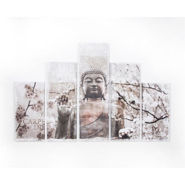 TABLEAU - TOILE ART FOR THE HOME Set de 5 toiles imprimées Harmoni