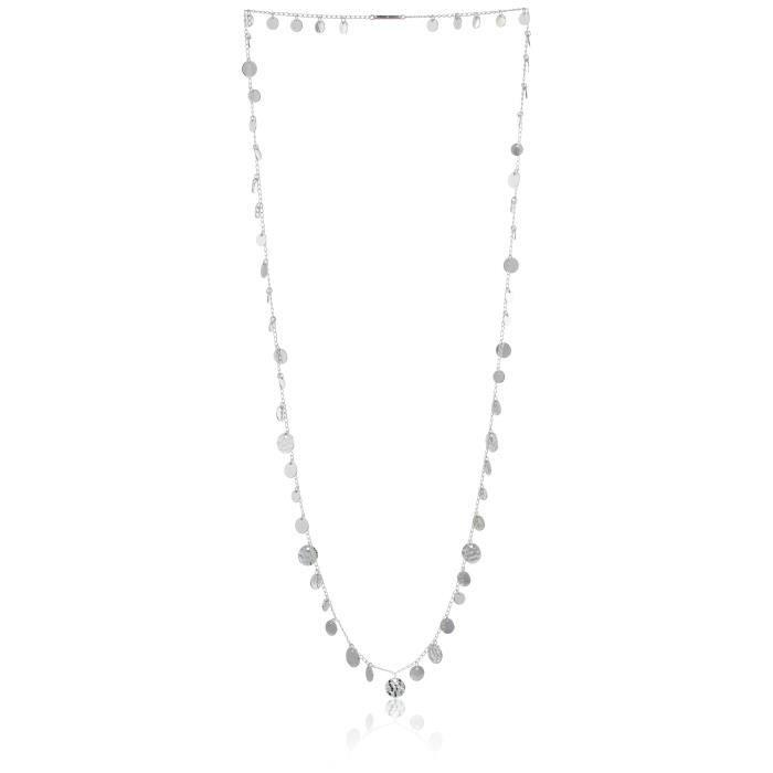 Nine West Ton argent de femmes Strandage Collier de longueur 106cm 1EHWGW
