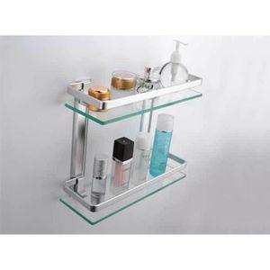 etagere salle de bain verre achat vente etagere salle de bain verre pas cher black friday. Black Bedroom Furniture Sets. Home Design Ideas