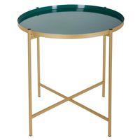 TABLE D'APPOINT Table à café en métal Sanat - Diam. 48 cm - Vert b