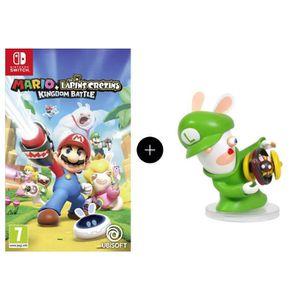 Pack Mario + The Lapins Crétins Kingdom Battle Jeu Switch + Figurine Luigi 8cm