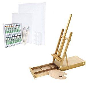 KIT PEINTURE Artina Kit de peinture aquarelle - Chevalet de tab