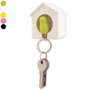 ARMOIRE - BOITE A CLÉ Cabane range-clés et porte-clés oiseau oiseau roug
