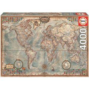 PUZZLE EDUCA Puzzle 4000 Pièces - Mappemonde