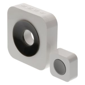 SONNETTE - CARILLON KONIG Sonnette sans fil avec batterie 90 dB blanc