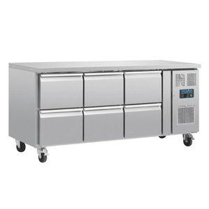 ARMOIRE RÉFRIGÉRÉE Table réfrigérée positive - 6 tiroirs 465 L