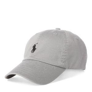 CASQUETTE RALPH LAUREN Casquette gris logo noir