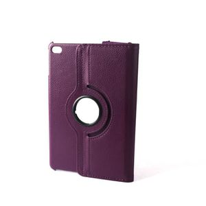 HOUSSE TABLETTE TACTILE SAVFY® Étui violet iPad Mini 4 Housse Smart Cover