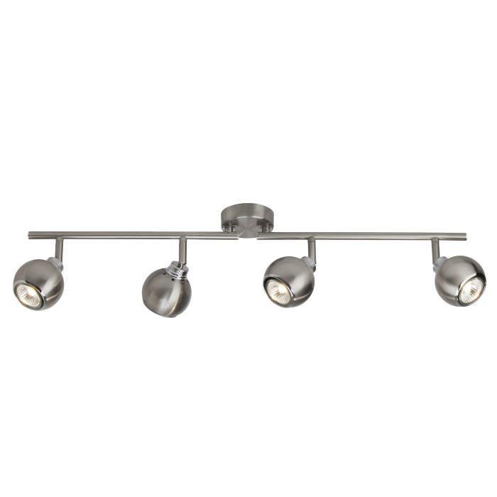 Plafonnier ajustable à 4 lumières Ina 4xGU10 28W acier et...