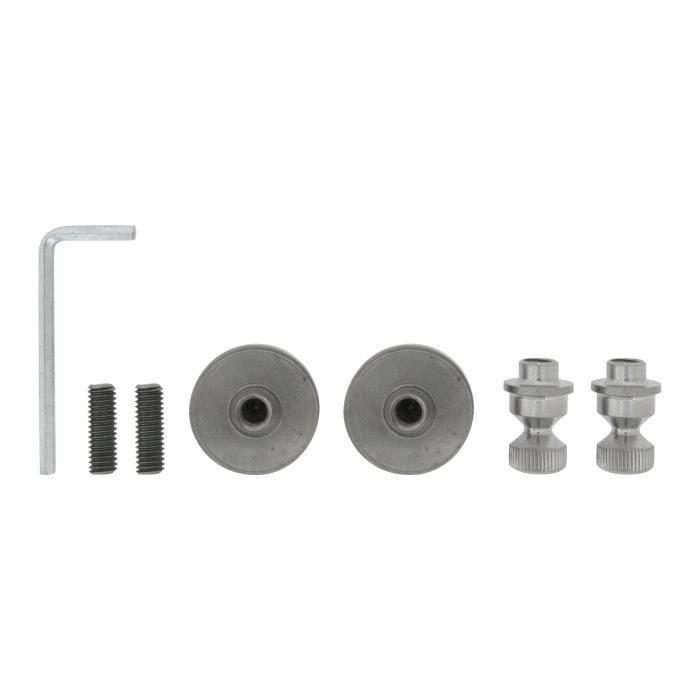 ALPERTEC Kit de fixation pour toutes barres de tirage - Fixation traversante - Montage sur verre