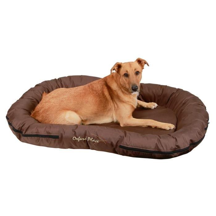 Coussin Oxford Place pour chien - Tissu Oxford - 100% polyester - Dimensions : 140 x 100cm - Coloris : brun.CORBEILLE - PANIER - COUSSIN - HAMAC - LIT