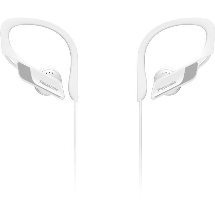 PANASONIC BTS10 Écouteurs Sport sans fil Bluetooth - Micro intégré - Résistants aux éclaboussures - Blanc