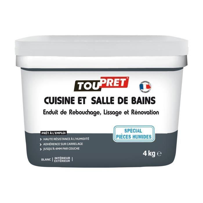 TOUPRET Enduit rénovation cuisine et salle de bains 4 kg