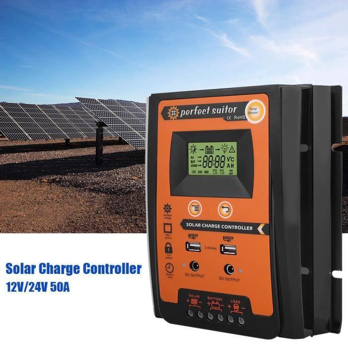 Micro-contrôleur 12V   24V 50A MPPT Contrôleur de charge solaire Pa.