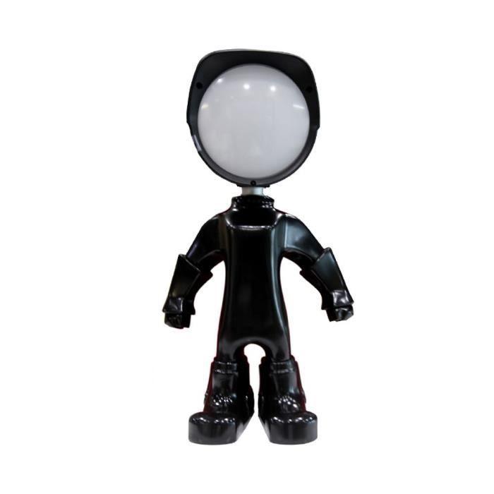 Créatif Aluminium Robot Lampes De Bureau 4000k LED Chambre Du0027enfant Lits  Salle Du0027étude Lampes De Table (noir)