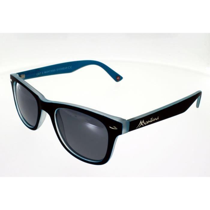 MONTANA Lunettes style Polarisé Polarisé Wayfarer Indice de Bleu Noir 3 MP41C Soleil Mixte qrqxatUwE