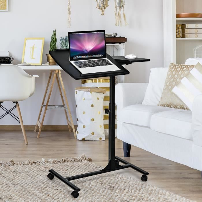 table de lit roulettes table pour ordinateur portable. Black Bedroom Furniture Sets. Home Design Ideas
