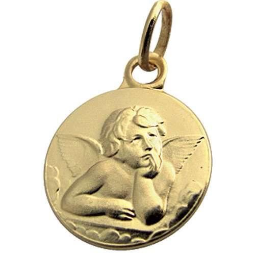 Médaille en or jaune 750/1000e représentant un ange