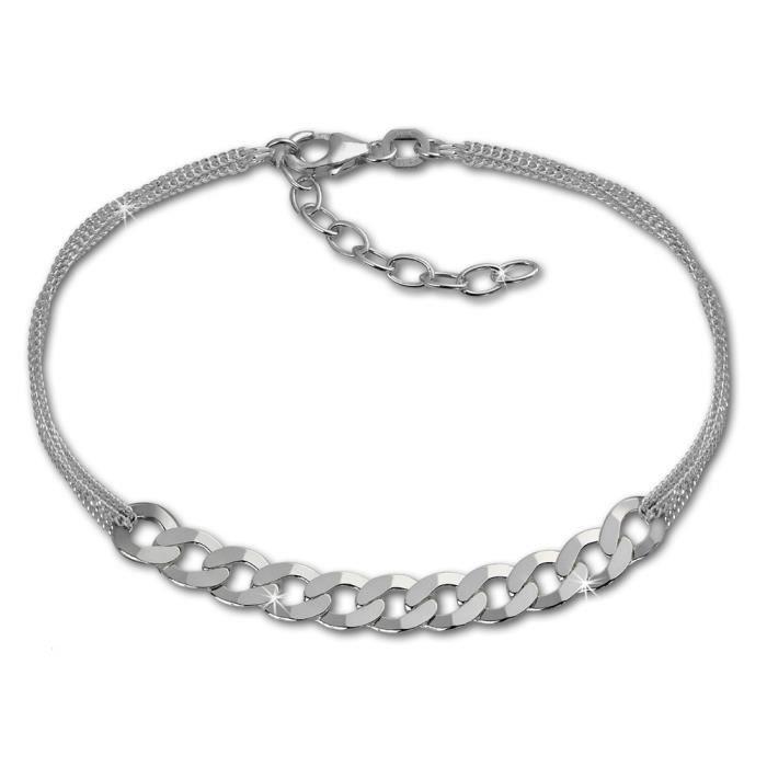 SilberDream Bracelet - Fantaisie - Argent Sterling 925 - Femme - 18cm - Bijoux Tendance SDA2148J