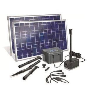 Kit pompe solaire marino plus 50w avec batterie achat for Pompe solaire fontaine