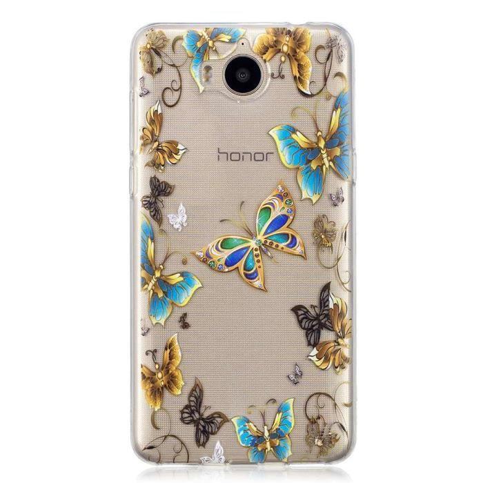 HOUSSE DE CHAISE Coque Huawei Y6 2017 - Y5 2017,Transparent Mince T