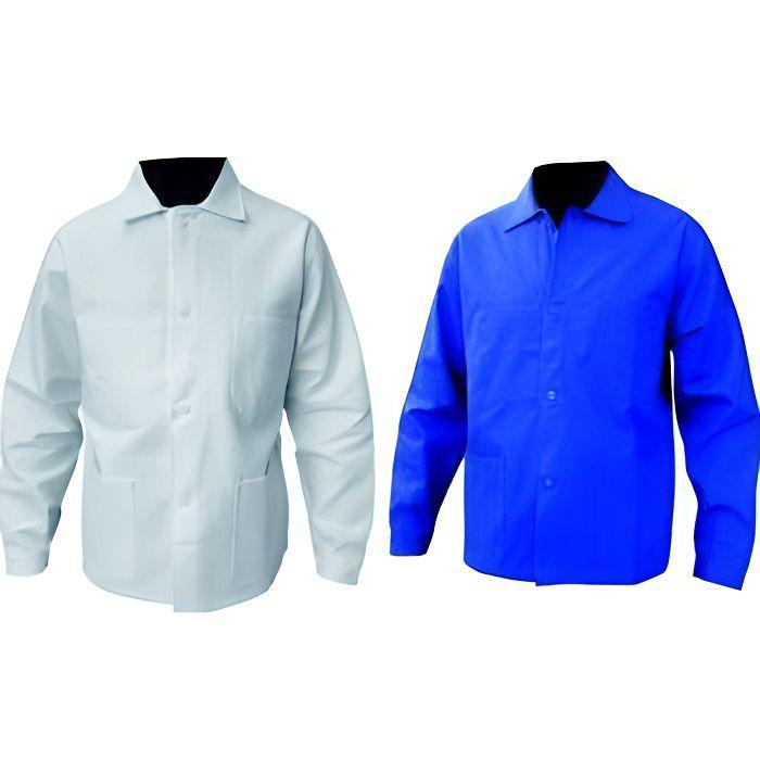 Veste de travail coton bleu