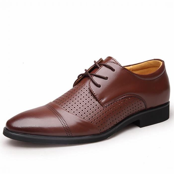 cb252998c7d40f Chaussures En Cuir Homme Soulier Habillées Chaussures De Marche chaussures  platesDe Nouveau Hommes Casual Chaussures Oxford en cuir