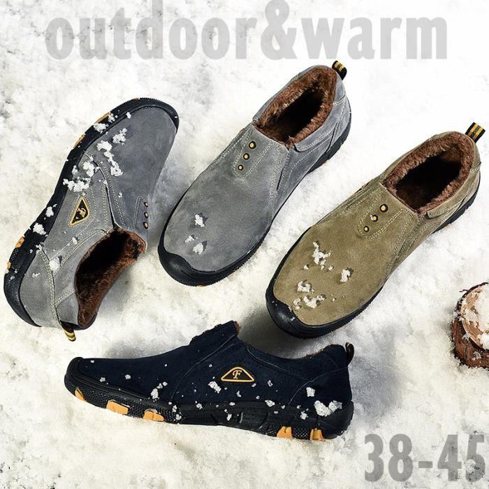 Foncé Chaussures Hommes Chaud D'hiver bleu Antidérapants Imperméables Nouveaux Coton Bottes En Mode Taille De Pour Grande Gris Neige kaki Ag0xnqUd