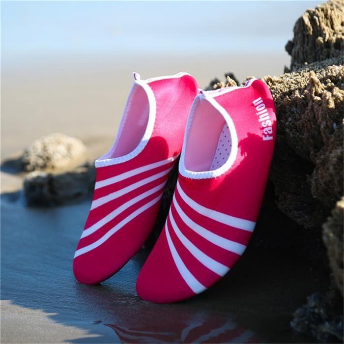 chaussures multisport Homme d'été pour lespataugeant Casual Shoes Sandbeach rose taille39