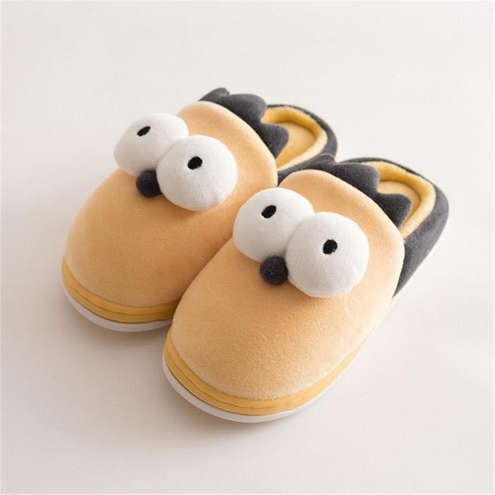 Taille Grande Hiver manchot Qualité Enfant Marque Mixte mignonneChaussures Chausson Pantoufle Haut mignonne 21 jaune Chaussures Wgnx0PP7w