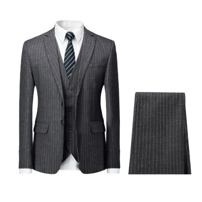 Costume homme raye - Achat   Vente pas cher c162ac758a6