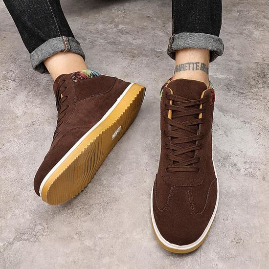 Baskets chaussure sport homme chaussure homme sneakers  Brown basket - Achat / Vente basket Brown 211543