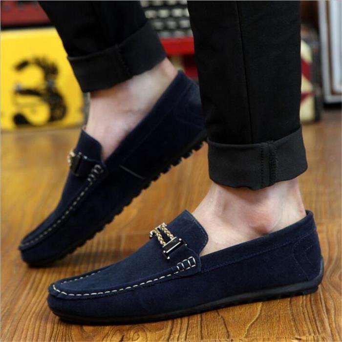 Moccasin 2017 hommes homme Luxe Durable Moccasins Confortable De ete Mode Respirant Nouvelle chaussure Marque Antidérapant De XxdHHqw
