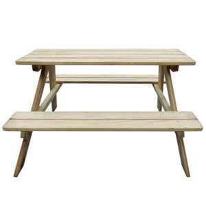 table pique nique bois achat vente table pique nique bois pas cher cdiscount. Black Bedroom Furniture Sets. Home Design Ideas