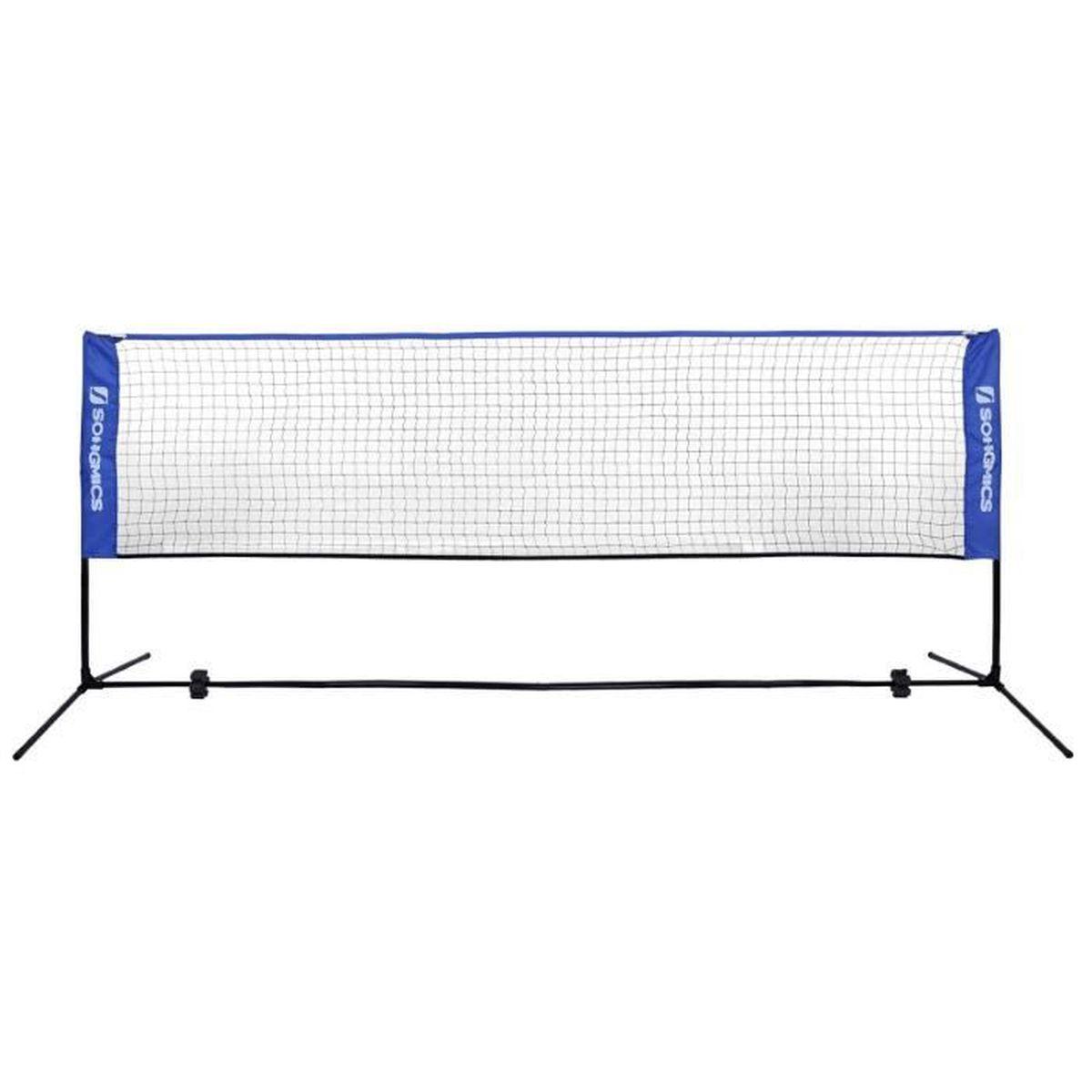 400 X 155 X 103 Cm Filet De Loisirs Réglable En Hauteur, Filet De Badminton, Volley-Ball, Tennis, Avec Pied