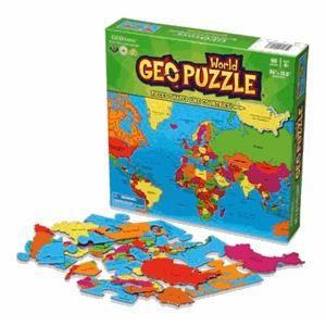 Livre 6-9 ANS Geo Puzzle Monde 68 pièces