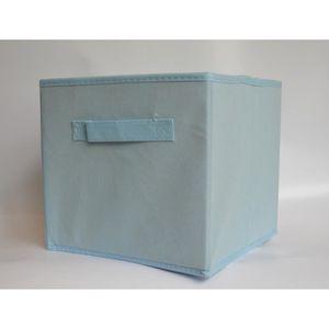 BOITE DE RANGEMENT Panier cube de rangement pliable bleu clair