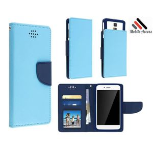 Etui wiko tommy 2 turquoise bleu adaptable achat housse for Housse wiko tommy 2