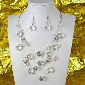 0691ae596b44a PARURE Parure Collier 4 rang de Perles sur fil Collection