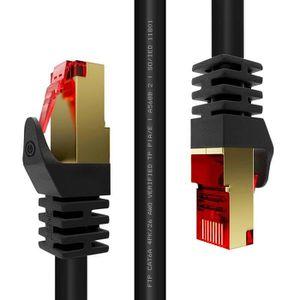 CÂBLE RÉSEAU  Duronic Câble FTP Ethernet CAT6a 1,5 m noir - Prem