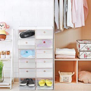 MEUBLE À CHAUSSURES 12PCS boîtes à chaussures Plastique Haute Qualité