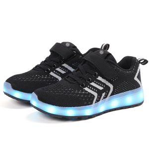 Basket enfants Chaussures Mode de choc anti-dérapage des garçons et des filles chaussures de course loisir autocollants magiques qk0ruk