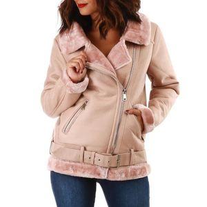 manteau,rose,clair,type,aviateur