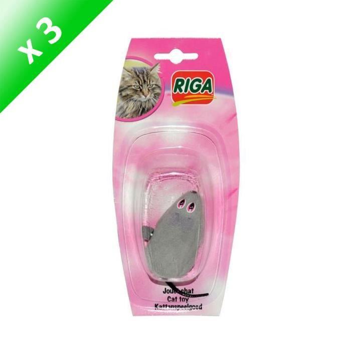 RIGA Lot de 3 Souris mécaniques pour chat