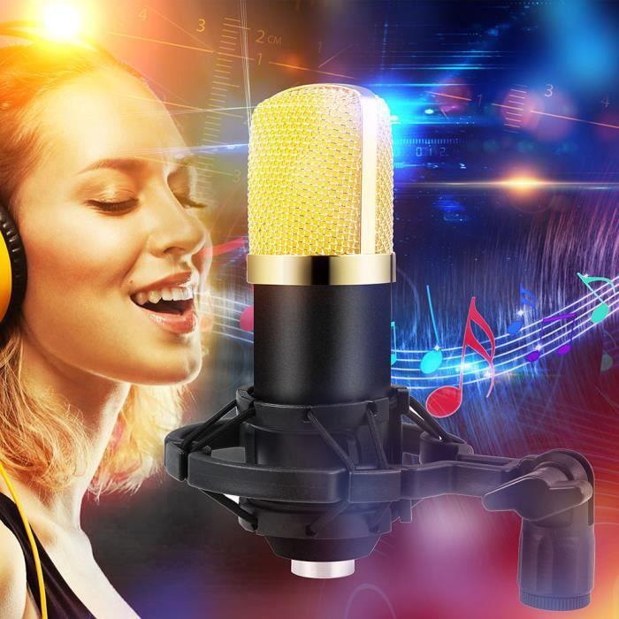 Microphone À Condensateur Pro Audio Bm700 Sound Studio Dynamic Mic Montage Sur Amortisseur_15
