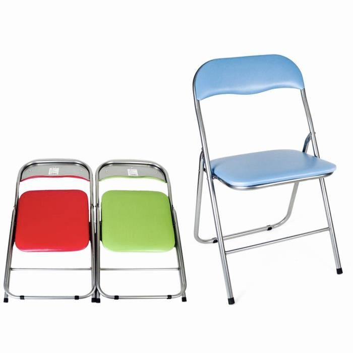 CHAISE CmagicR Chaise Pliable Assise Rembourre Confortab