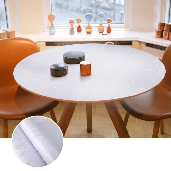 60x500cm Papier Peint Bois Adhésif Sticker Meuble En Pvc Imperméable